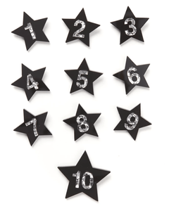 Birthday Badge Black Star #2