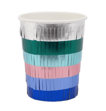 Load image into Gallery viewer, Metallic Fringe Party Cups
