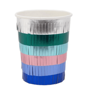 Metallic Fringe Party Cups