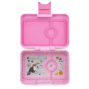 Yumbox Snack 3 Compartment Coco Pink Toucan Tray