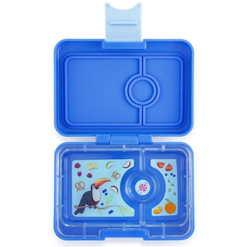 Yumbox Snack 3 Compartment Jodhpur Blue Toucan Tray