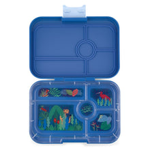 Load image into Gallery viewer, Yumbox Tapas 5 Compartment True Blue Jungle Tray