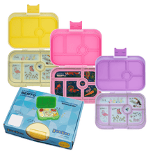 Load image into Gallery viewer, Yumbox Original 6 Compartment Power Pink Unicorn Tray