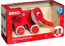 Load image into Gallery viewer, BRIO Pull Along Elephant