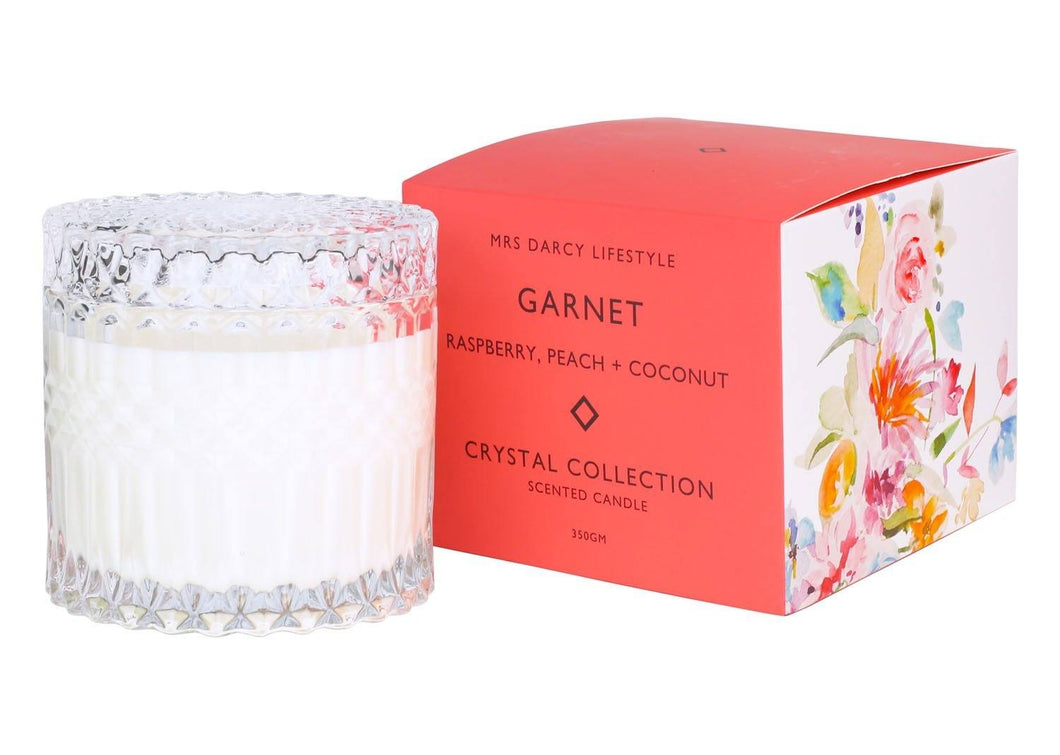 Mrs Darcy Candle Garnet - Raspberry, Peach + Coconut