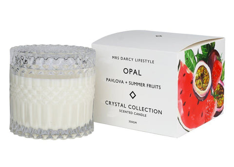 Mrs Darcy Candle Opal - Pavlova + Summer Fruits