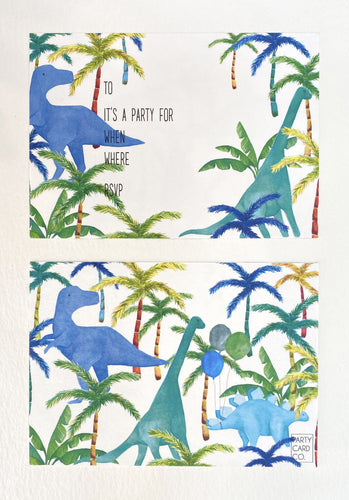 Dinosaur Party Invites (Pack 10)