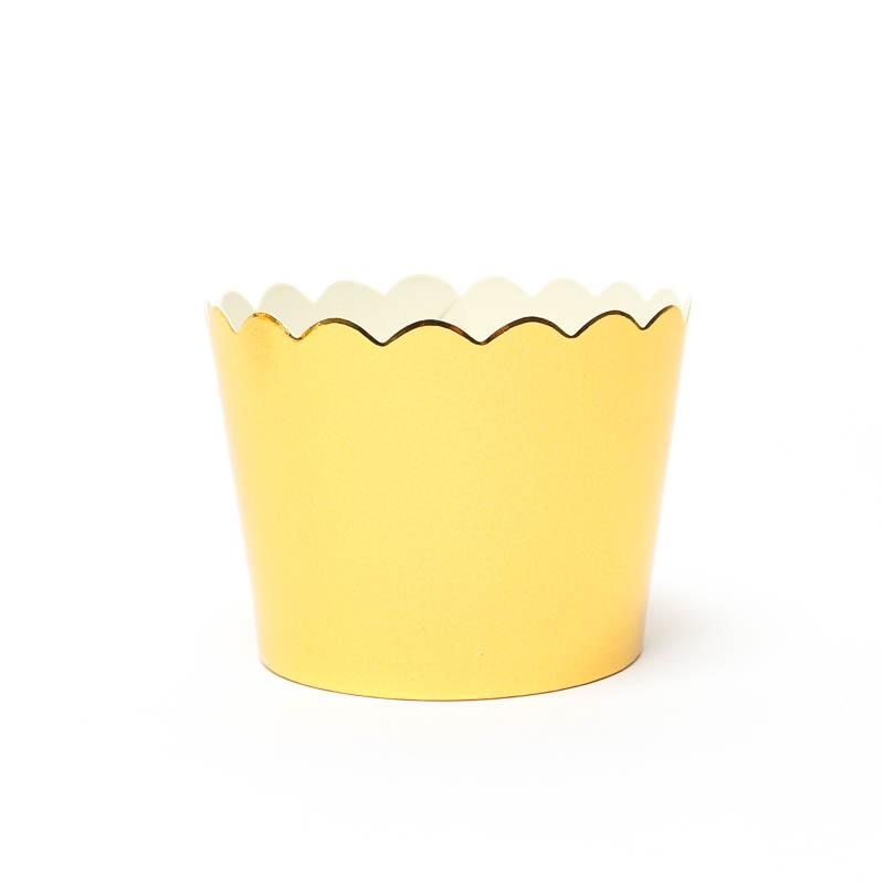 Gold Foil Cupcake Baking Cases
