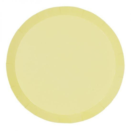 Pastel Yellow Plate Large