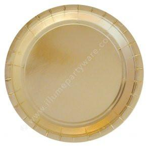 Gold Foil Plate Large