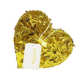 Gold Heart Pinata