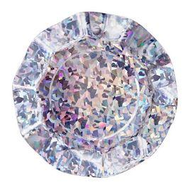 Holographic Ruffled Party Plates