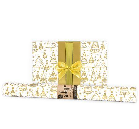 Wrapping Paper Kerstboom Gold 10 metres