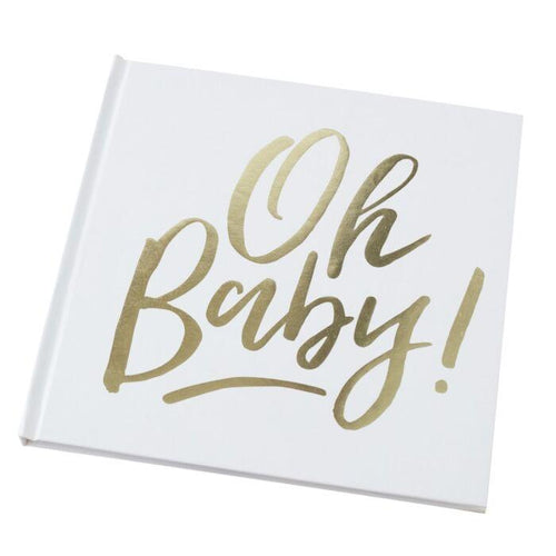 Gold Foiled OH BABY Guest Book