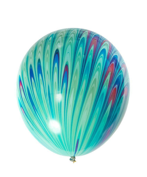 Green Peacock Latex Balloon