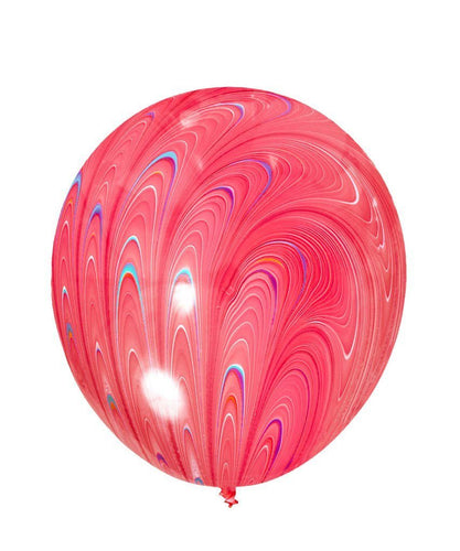 Red Peacock Latex Balloon
