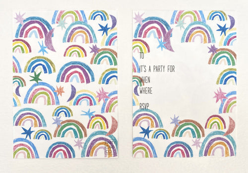 Rainbows Party Invites (Pack 10)