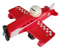 Wooden Airplane Red