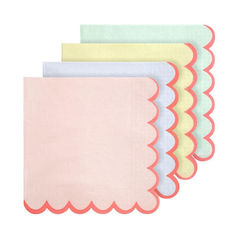 Pastel Neon Edge Napkins Large