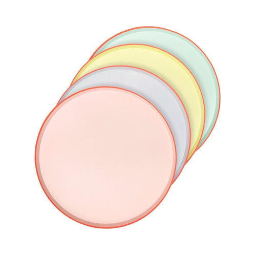 Pastel Neon Edge Plates Cocktail