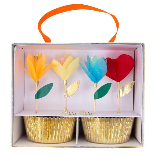 Cupcake Kit Flower Bright Tissue Flower