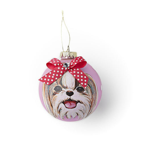 Hanging Glass Decoration Shih Tzu