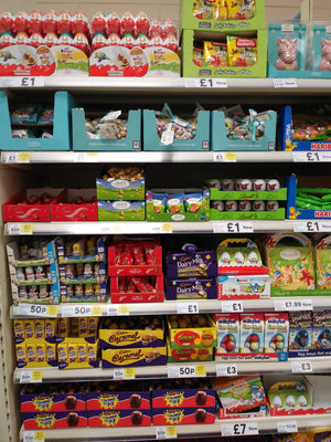 Seasonality gone out of the window? Tesco easter products on display Jan 2nd...