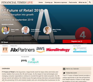 A Review of FT Future of Retail conference by Financial Times Live, 2019