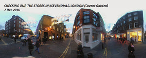 A walk in Seven Dials in London Dec 7th, 2016 - 360 Video