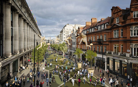 Europe's busiest shopping street to become a 'people only' place; London's Oxford Street to transform from 2018