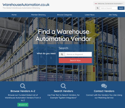 NEW Online Directory for the Warehouse Automation ecosystem