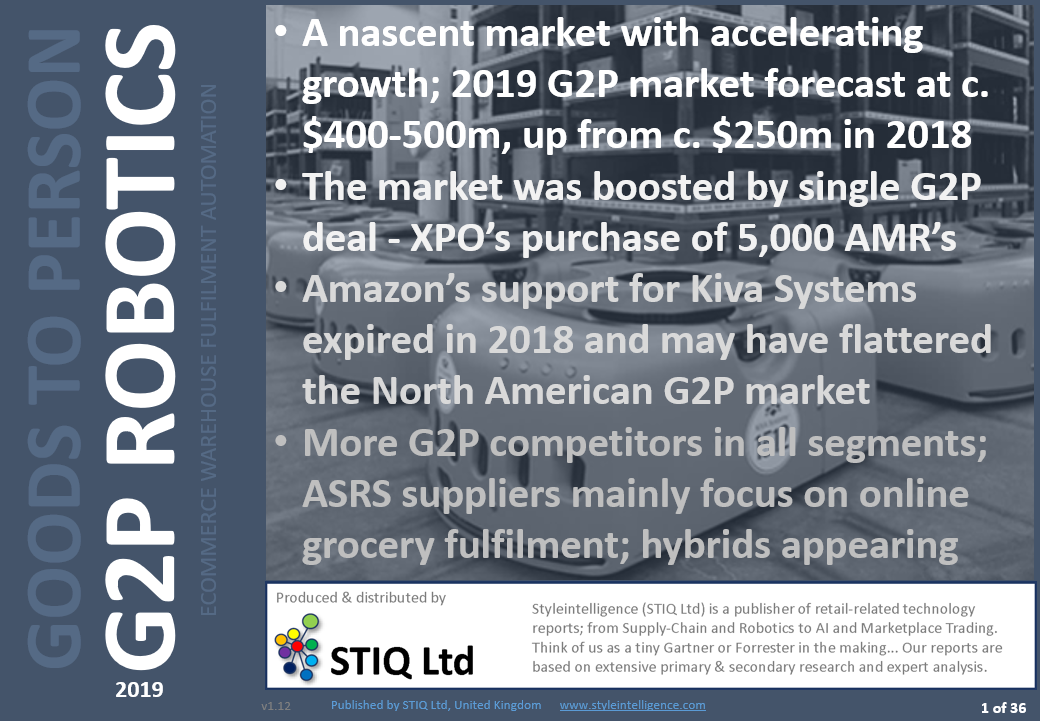 Market Report: Goods-to-Person Ecommerce Fulfilment Robotics 2019