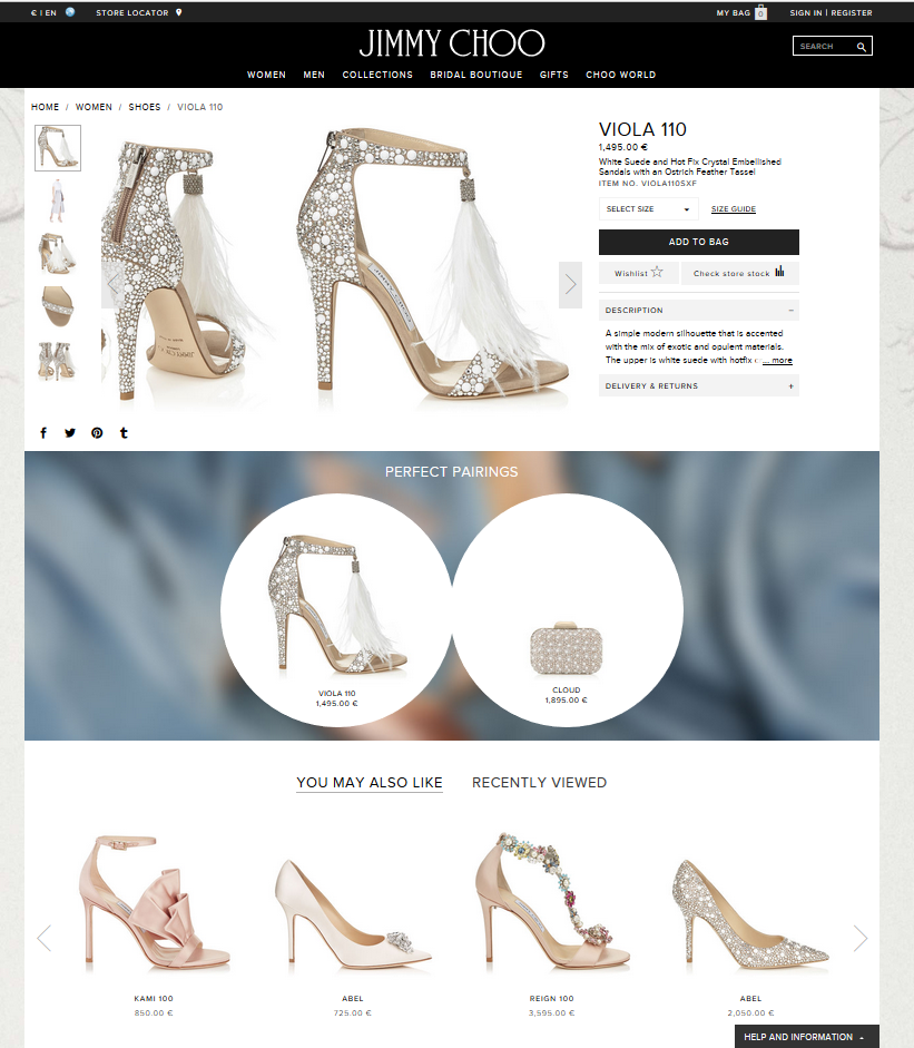 Jimmy Choo: Acquisition Analytics, May 2017 - Styleintelligence - Report