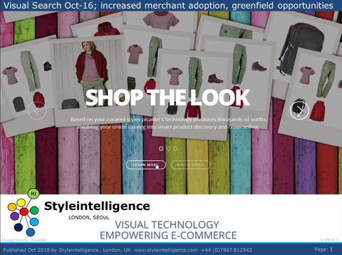 Market Report: Visual Search SaaS Fashion Technology, Oct 2016 - Styleintelligence - Report