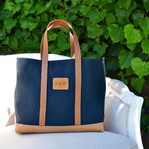 Classic Monogrammed Tote