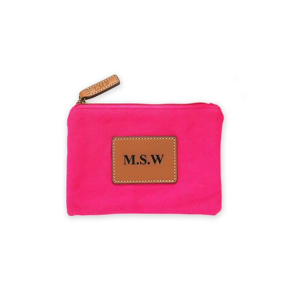 Pink Monogrammed Pouch