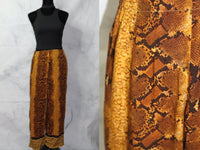 Vanity Gold Brown Snake Design Flare Beaded Pants (L)