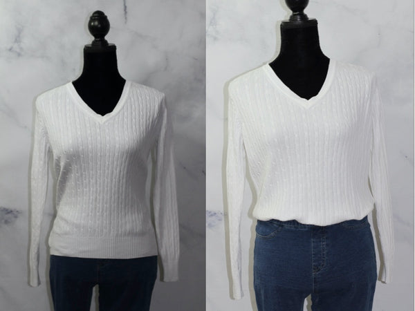 Kim Rodgers Cotton Long Sleeve Sweater (PM)
