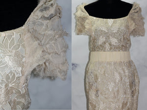 MM Couture Lace Cream Dress (M)