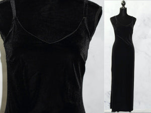 Donna Morgan Long Gown Black Ball Evening Column Gown (10)