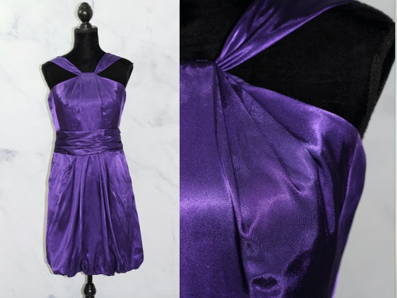 David's Bridal Royal Purple Reverse Style Dress (6)