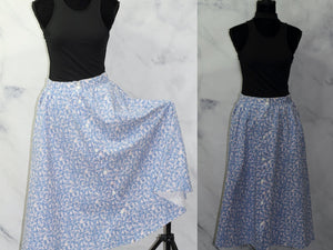 Monerey Canyon Pink & Blue Floral Skirt (16)