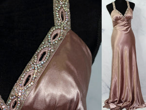 Beyond A Division of Jovani Dusty Rose Empire Dress Gown (4-6)