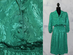 Aexis Fashion Inc Green A-Line Dress (9-10)