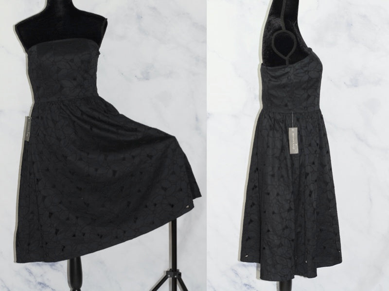Ann Taylor  Black Strapless  Dress (6)