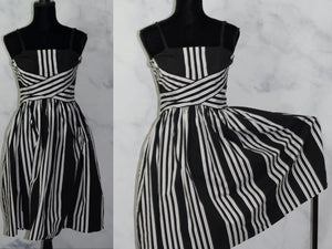 Speechless Strapless Black & White Dress Strapless Dress (9)