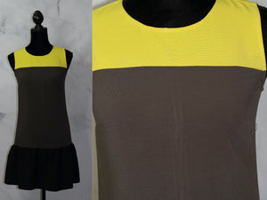 Ann Taylor Loft Yellow & Grey Color Tulip Sheath Dress (4)