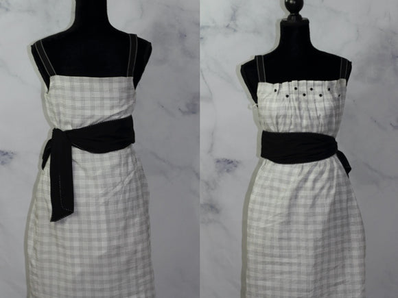 BCBG Maxazria Black & White A-Line Dress (4)