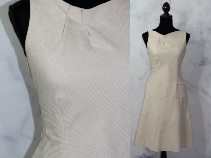 Ann Klein Cream Sheath Dress (8)