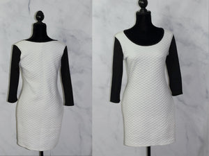 French Atmosphere  Black & White Sheath Dress (L)
